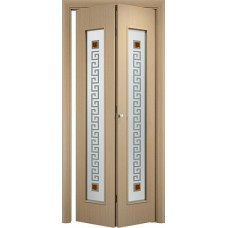 Дверь складное C17-квадрат+С17-квадрат (стекло сатинато с фьюзингом)