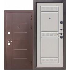 Входная металлическая дверь Троя 10 см антик медь (белый ясень)