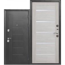 Входная металлическая дверь Троя 10 см серебро (лиственница беж)