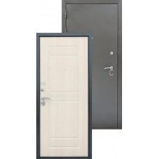 Входная металлическая дверь Трио серебро (беленый дуб)