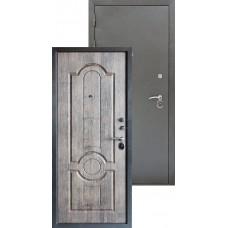 Входная металлическая дверь Трио серебро (мореный дуб)